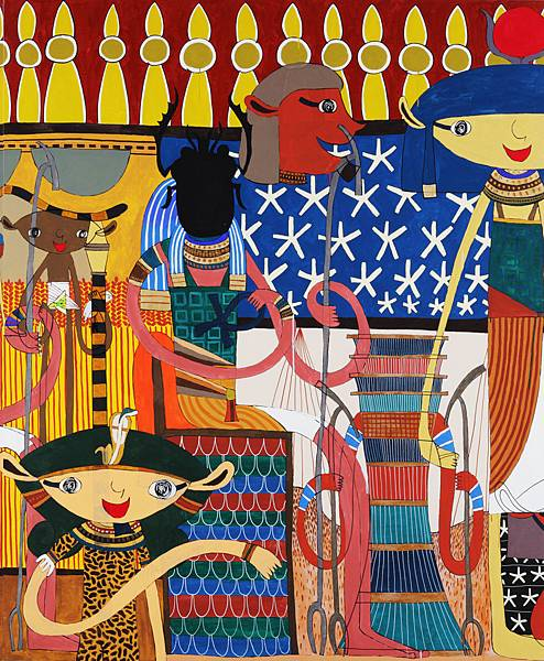 三宅信太郎 Shintaro Miyake 埃及之路(局部) Path to Egypt 200x1798cm 2008 壓克力顏料 油墨 畫布 Acrylic and Ink  on Canvas