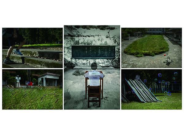 攝影類金牌獎_劉浣青〈少子化「學校不見了!」〉2015數位微噴輸出39.5×59.5cm ×4件,89.5×59.5cm×1件