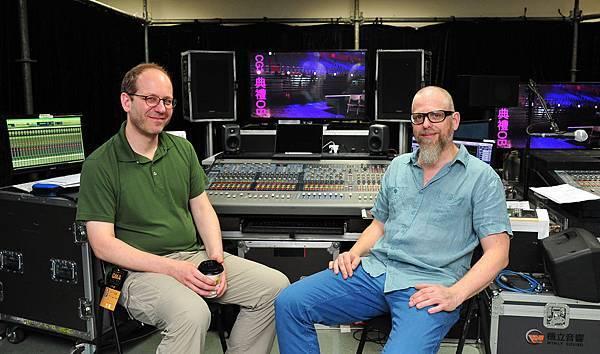 德國成音工程師Holger Schwark(右)與Stefan Holtz(左)擔任金曲27典禮成音顧問-2-2016-6-23
