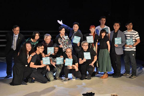 2016臺灣科技藝術節啟動記者會-文化部長鄭麗君與參與團隊們合照-2