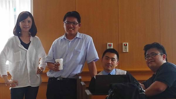 左起洪慈庸、邱顯智、李宣毅、劉繼蔚均在電影《進擊之路》亮相