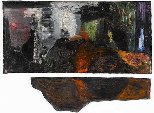 薛保瑕〈無題〉1987壓克力顏料、畫布157×216cm