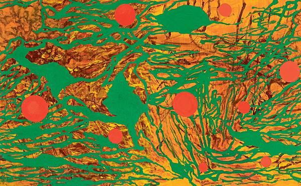 薛保瑕〈流動現實〉2011壓克力顏料、畫布215×346cm
