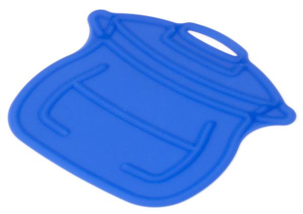藍色鍋子造型隔熱墊
