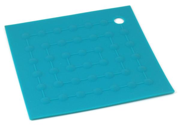 綠色三角點點矽膠隔熱墊