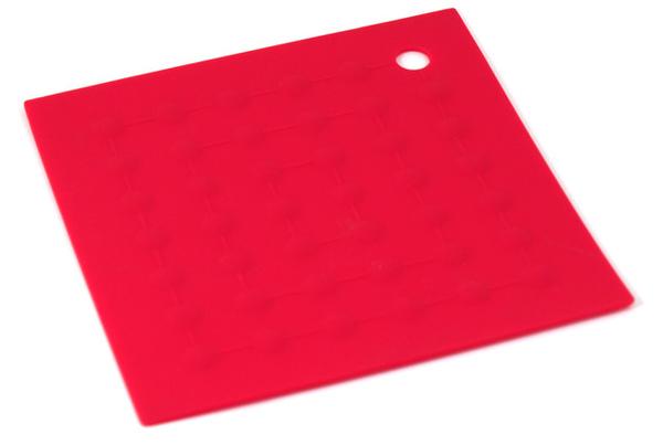 紅色三角點點矽膠隔熱墊