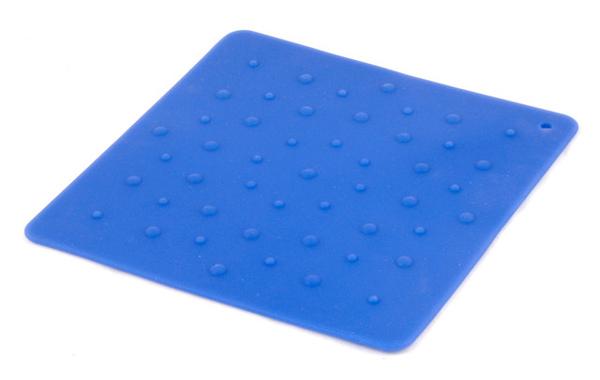 深藍色點點矽膠隔熱墊