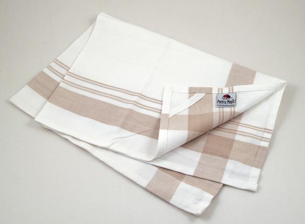 印度卡其寬線條餐巾