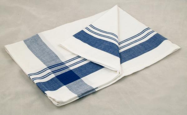 印度藍色十字寬線條餐巾