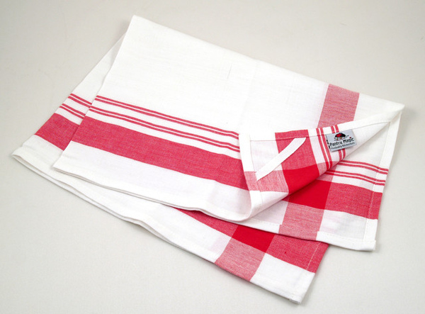 印度紅色寬線條餐巾