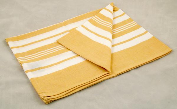 印度黃色混合線條餐巾