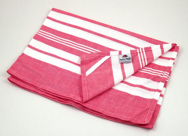 印度紅色線條餐巾