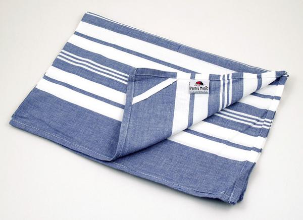 印度藍色線條餐巾