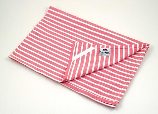 印度紅白橫條桌巾