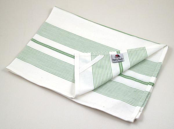 印度綠色多重線條餐巾50x70公分