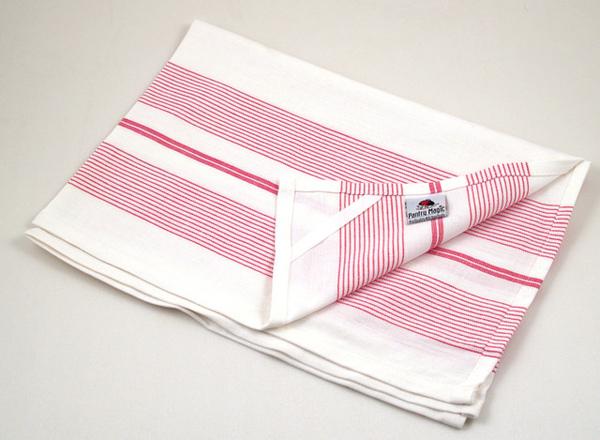 印度紅色多重線條餐巾50x70公分