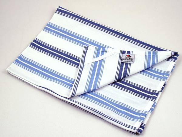 印度深淺藍色線條餐巾50x70公分