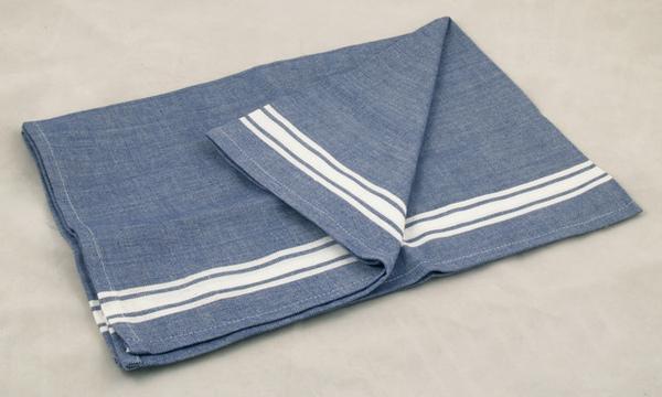 印度深藍白線條餐巾50x70公分