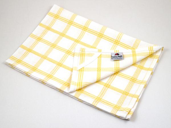 印度白黃格子餐巾50x70公分