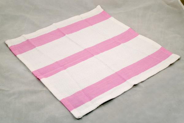 粉紅條紋碗盤拭布35*35CM/3入一組