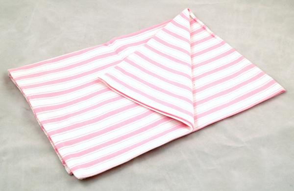 餐巾50*70/紅白綜合條紋