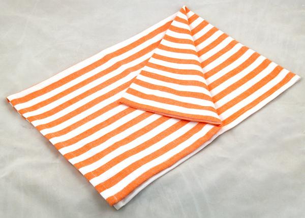 橘白條紋餐巾50*70CM