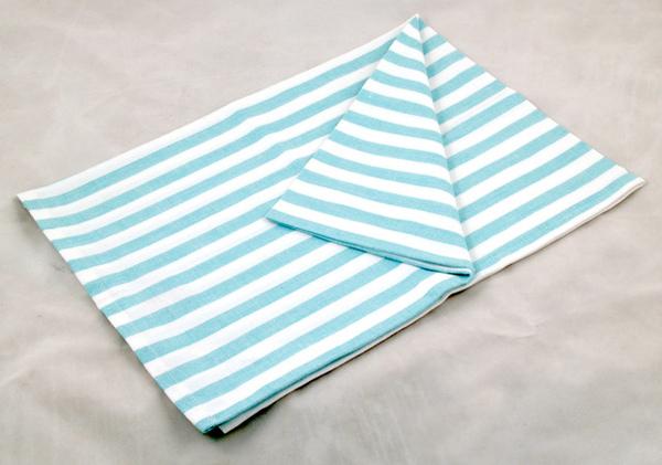青綠白條紋餐巾50*70CM