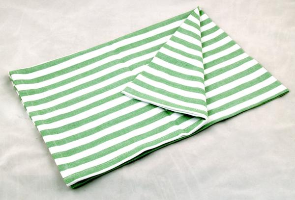 草地綠白條紋餐巾50*70CM