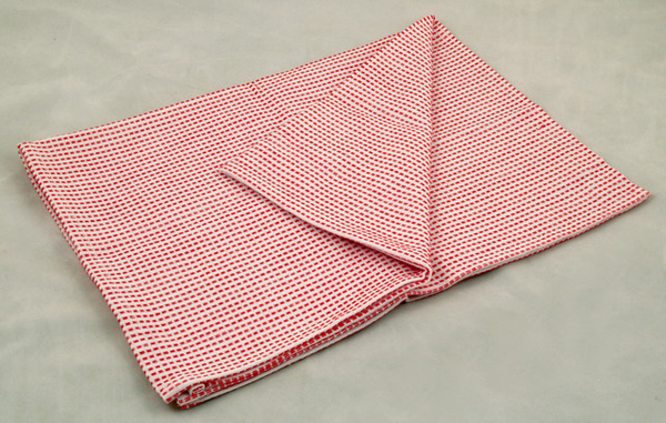 虛線條紋餐巾50*70CM/紅色