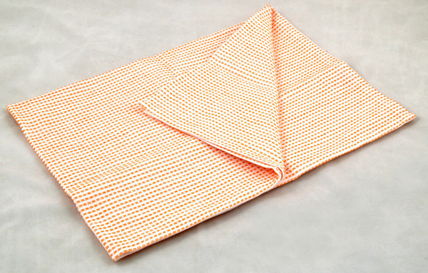虛線條紋餐巾50*70CM/橘色