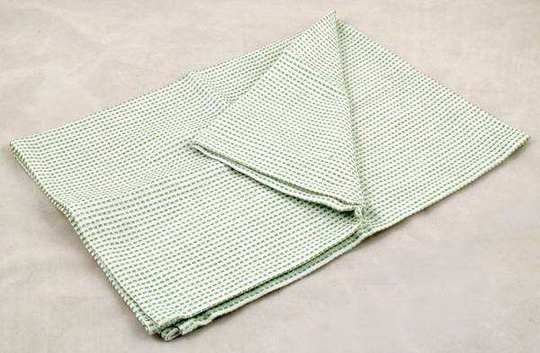 虛線條紋餐巾50*70CM/綠色