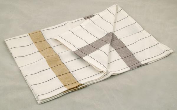 毛巾(土黃/咖啡條紋格子)