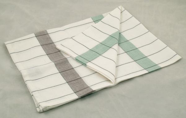 毛巾(咖啡/綠條紋格子)