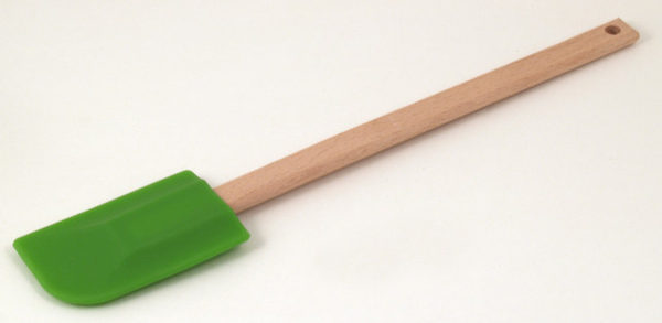 草綠色矽膠木柄刮刀280mm