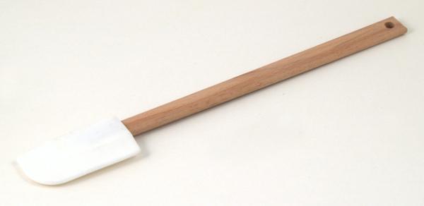 白色矽膠木柄刮刀270mm