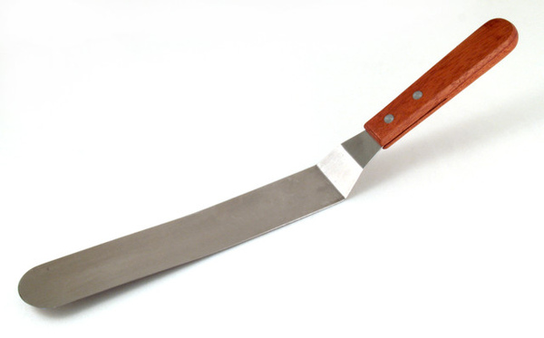 25公分不鏽鋼抹刀(有角度)