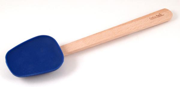 藍色矽膠刮刀椈木柄(大)
