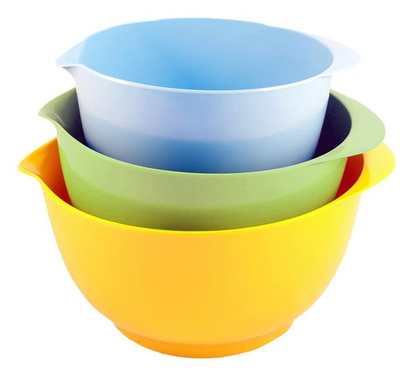 三色美耐皿沙拉拌碗3入