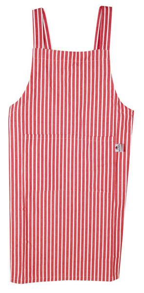 印度紅線條日式圍裙100x90cm