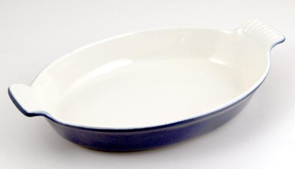 藍色鑄鐵烤菜碟29公分