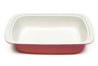 M&W3.4公升橘色長方形陶瓷烤盤