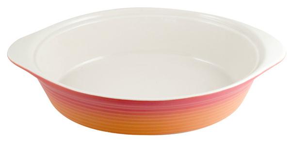 M&W2.7公升橘色橢圓陶瓷烤盤