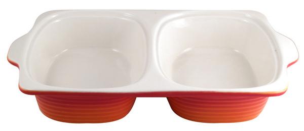 M&W2公升橘色雙邊陶瓷烤盤
