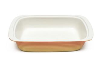 M&W3.4L黃色方形陶瓷烤盤