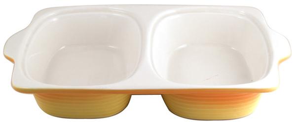M&W2L黃色雙邊陶瓷烤盤