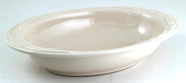 米白橢圓陶瓷烤盤