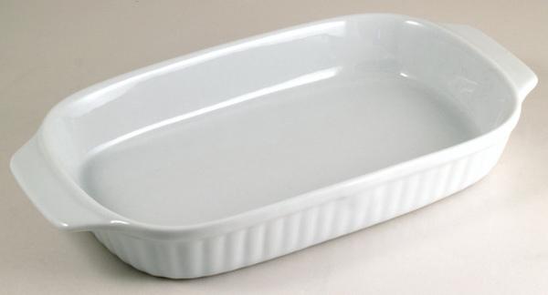 PM白色25cm方型陶瓷烤盤