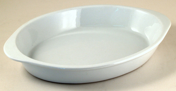 PM白色26cm橢圓陶瓷烤盤