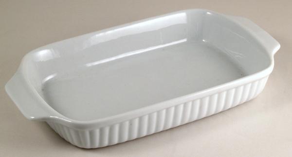 PM白色29cm方型陶瓷烤盤