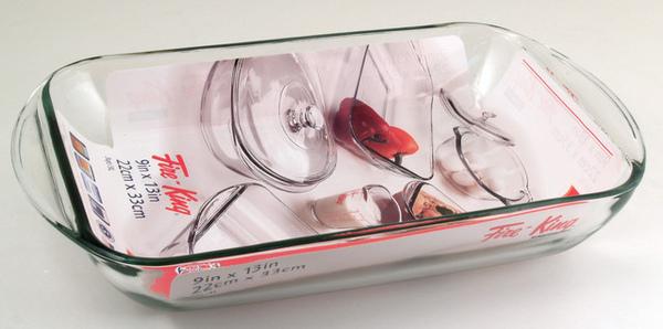 玻璃烤盤3L 22x33 cm